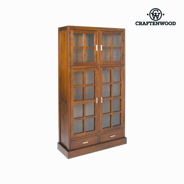 Vitrina con Doble Puerta de Cristal Craftenwood (100 x 180 x 37 cm) Madera / nogal – Colección Nogal