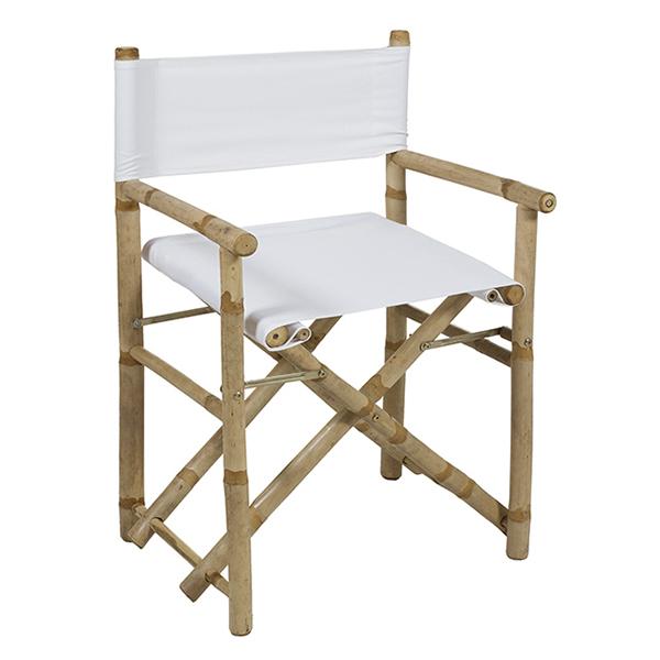 Silla (89 x 58 x 45 cm) Bambú Blanco