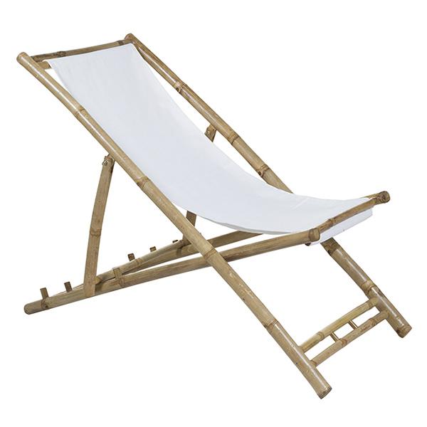 Silla (115 x 66 x 59 cm) Bambú Blanco