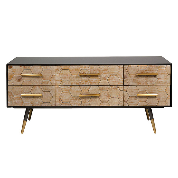 Mueble TV Madera de abeto (120 x 38 x 52 cm)