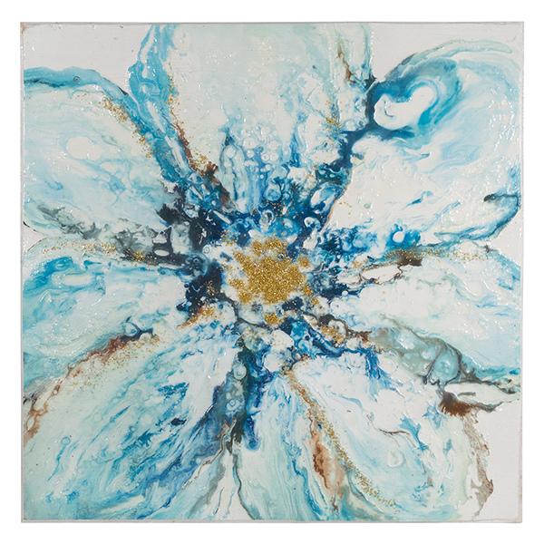 Cuadro Óleo Fleur (100 X 4 X 100 Cm)