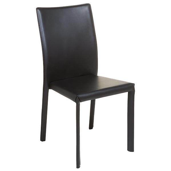Silla de Comedor Polipiel Metal Negro (42 x 45 x 91 cm)